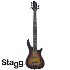 NEW Stagg BC300 FUSION 5 String Standard Jazz Electric Bass - SUNBURST
