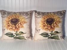 Decorative pillows 18X18. Sunflower Design. Set Of Two
