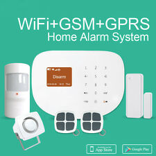 2017 WiFi GSM GPRS SMS Wireless Home House Fire Security Inturder Alarm System