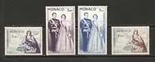 """MONACO 1960 #653-656 mnh """"SAINT DÉVOTÉ / ROYALTY RAINIER IIIrd + GRACIA"""" D736C"""