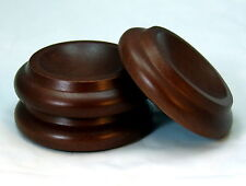 GRAND PIANO WOOD CASTER CUPS  - Medium - Walnut