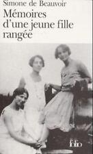 Memoires D'une Jeune Fille Rangee  (Folio Ser.: No.786) (French Edition) by de