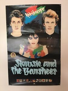 siouxsie and the banshees kaleidoscope Promotional Poster Early 1980s