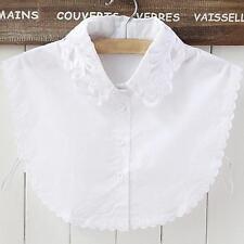 New Women's Fake Half Shirt Blouse Collar Peter Pan Detachable Collar Unisex Tie