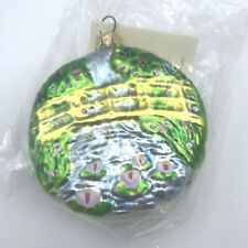 Patricia Breen Monet Japanese Bridge Water Lily Medallion Vintage Matte Ornament