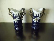 Paire de petits vases art nouveau  , libellules