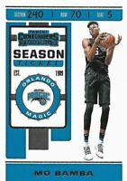 2019-20 Panini NBA Contenders Basketball #82 Mo Bamba - Orlando Magic
