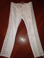 Pantalon cuir écru Isabel Marant H&M, T40