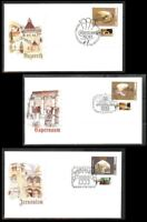 ISRAEL STAMPS 1999 PILGRIMAGE SITES CHRISTIAN 3 FDC CHRISTMAS NOEL JERUSALEM