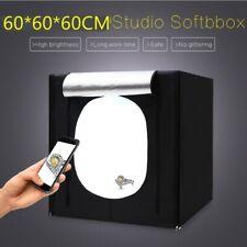 Portable Photo Studio Lighting 60cm Box Photography Backdrop LED Light RoomTent