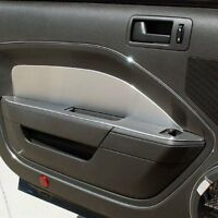 NEW Brushed Locking Race Style Gas Fuel Door FOR FORD MUSTANG COUPE 2005-2009