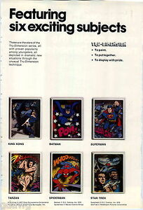 1977 ADVERT 4 PG 3 Dimensional Pictures Superman Batman Star Trek King Kong