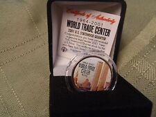 9/11 TWIN TOWERS WORLD TRADE CENTER-colorized gift  NEW YORK U.S. STATE QUARTER