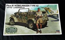"1/24 Hasegawa Kubelwagen Type 82 ""OTTO"" with Marseille figure model kit"
