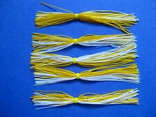 5 Silicone Skirt  5-9294 WHITE/YELLOW spinner bait bass lure FISHING  JIGS