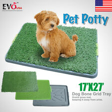 Pet Potty Dog Training Grass Pad Zoom Park Patch Mat Indoor Pet Toilet Restroom