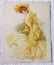 VINTAGE 1907 ORIGINAL LITHOGRAPH PRINT NEW YORK SHOW GIRL HIPPODROME #Q9