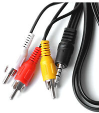 3.5MM Jack 4 polos a 3 RCA Audio Video Cable AV a TV en cámara plomo MP3