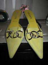 Prada mules shoes 8 US, 38.5 suede chartruse color (light green)