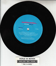 "NEW ORDER World In Motion (England World Cup 1990) 7"" 45 record + juke box strip"