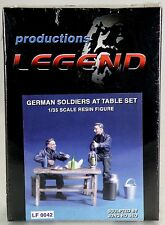 1:35 Scale German Soldiers At Table Set Resin Figure Kit - Legend #LF0042