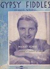 Vintage Sheet Music: GYPSY FIDDLES (1933) Mickey Alpert cover shot
