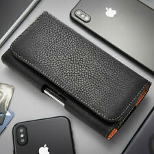 Black Leather Holster Sideway Pouch Case For Samsung Galaxy A10 A20 A30 A50 A10e