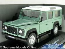 LAND ROVER DEFENDER MODEL CAR LWB 1:24 SCALE LIGHT GREEN CARARAMA LARGE 109 K8