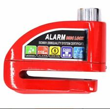 Heavy Duty 110dB Bicycle Bike Motor Alarm Disc Lock - RED