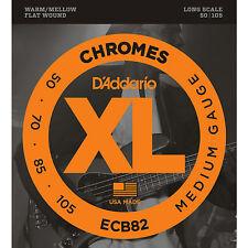 D'Addario ECB82 XL Chromes Flat Wound Bass Guitar Strings 50-105