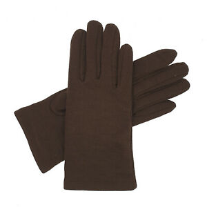 Women's Thermal Fabric Gloves - Brown - One Size Only - Made in UK