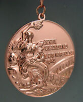 1984 Los Angles Olympic Bronze Medal with Ribbons & Stand 1:1 **Free Shipping**