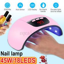 45W Nail Polish Dryer Pro Uv 18Led Lamp Acrylic Gel Curing Light Manicure