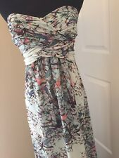 TED BAKER Dragonflies Maxi Elta Dress Strapless Gown Size 2