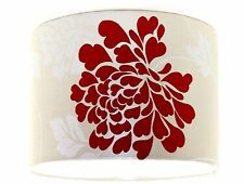 NEW Lampshade Handmade with Laura Ashley Isodore Linen Cranberry Wallpaper 30cm