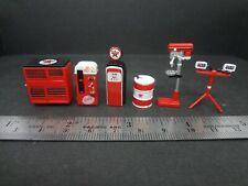 1:64 Scale Texaco Shop Tools - Garage equipment - Diorama Accessories 6 pcs