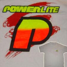 POWERLITE - P fondu LOGO - BMX T-shirt - Blanc - Grand - VINTAGE OLD SCHOOL