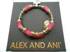 Alex and Ani Haven Wrap, Coral Bangle Bracelet, Shiny Rose NWTBC