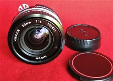 Nikon Nikkor AI 20mm f/4 MF Wide-Angle Lens, Caps