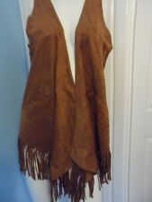 Suede Waistcoats for Women without Fastening