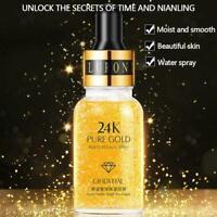 Hyaluronsäure Serum Oil Control Anti Falten 24K Gold Essenz Gesichts I8P3