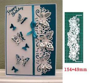 Metal Cutting Dies Lace Butterfly Border Craft Scrapbook Card Template Stencil