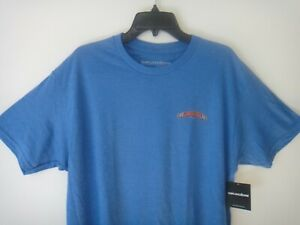 Grundens Mens Fishing Short Sleeve Shirt Classic Billfish Color Electric Blue XL