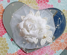 Shabby Chic Cottage Vanity Elegant Heart Mirror Rose Pearls Wedding Cake Top