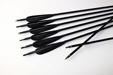 6PCS Turkey feather Aluminum arrows Hunting arrows Archery For Compound Recurve