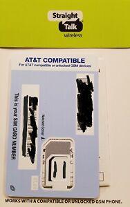 Straight Talk SIM card • Samsung Galaxy A10E A20 A30 A40 A80 - unlocked or AT&T