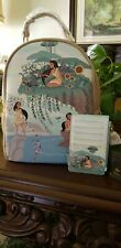 NEW WITH TAGS! Loungefly Disney Pocahontas forest Mini Backpack & Cardholder