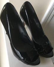 White House Black Market Platform High Heels 6.5 Patent Leather Black