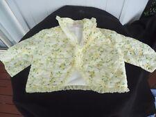 vintage retro women quilt bed jacket  lemon yellow sleepwear