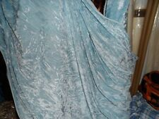 3 MTR  NEW QUALITY BABY BLUE ICE CRUSH VELVET FABRIC..58 INCHES WIDE